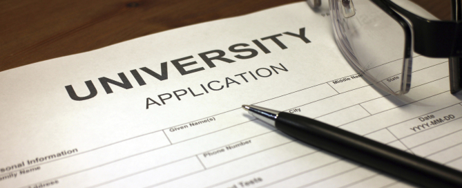 University Application Form.  Yield Rate.  Photo: Huffington Post.
